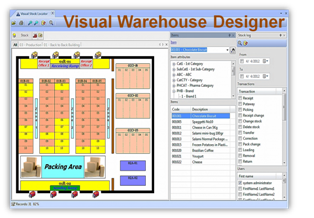 WMS - warehouse management system with visual warehouse designer